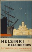 Helsinki poster - Die Hauptstatd The capital of Finland